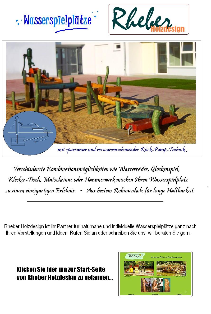 Wasserspielplatz Wasser Spielplatz